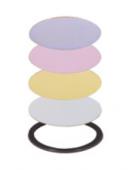Zestaw kolorowych dysków